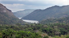 Park Soroa, Cuba, view from an observation deck on mountains and the lake Stock Footage