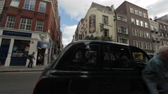 Time lapse of a narrow street in London Stock Footage