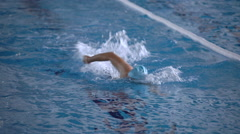 Freestyle swimming Stock Footage