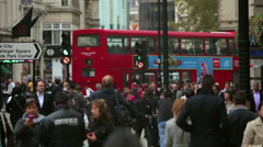 Busy daytime street traffic in London Stock Footage