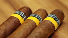 Stock Video Footage of The Cuban cigars, hand made
