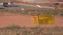 Moab Utah UMTRA uranium radiation contamination cleanup 4K Stock Footage
