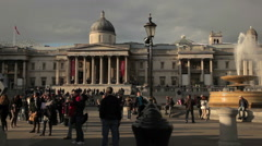 National Gallery panorama Stock Footage