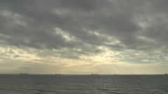 Storm clouds over the sea. - stock footage