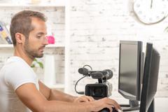 video editor - stock photo