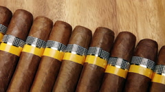 The Cuban cigars, hand made Stock Footage