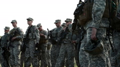 Group of Green Beret soldiers at training. Stock Footage