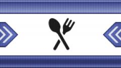 Dinner time icon on a pixel screen. Seamless. Stock Footage