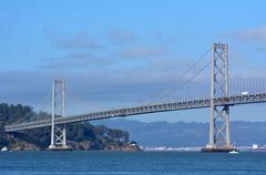 Oakland Bay Bridge San Francisco - California Kuvituskuvat