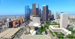 4K, Aerial  view of  Los Angeles Downtown Skyline - stock footage