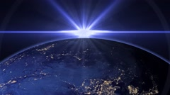 blue earth globe news style background - stock footage