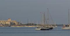 4k, View on Sheepshead Bay area, Brooklyn, NY Stock Footage