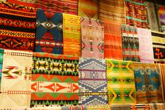Colorful Native American textiles Stock Photos