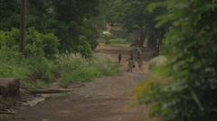 Ghana local african people walk 4K Stock Footage