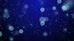 Blue bokeh lights and stars loop background 4k (4096x2304) Stock Footage