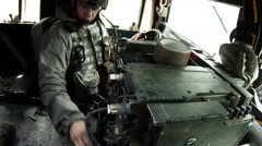 Soldiers in a humvee Stock Footage