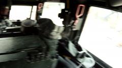 Moving machine gun target practice Stock Footage