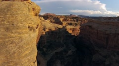 Glen Canyon at Sunset Aerial Stock Footage