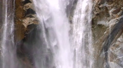 Waterfall in Ecuadorian Andes slow motion close up Stock Footage