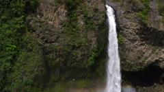 Manto de la Novia waterfall aerial tilt footage Stock Footage