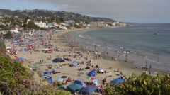 Laguna Beach, California, July 4 Independence Day Aerial View Stock Footage