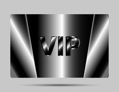 Vip cards with the black background - stock illustration