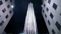 Rockefeller Center decorated for Christmas in New York. - stock footage