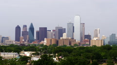 Dallas skyline on a hazy day. - stock footage