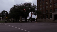 Dealey Plaza and the former Texas School Book Depository. - stock footage