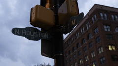 Elm and Houston streets intersection in Dallas, Texas. Stock Footage