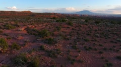 Utah Landscape at Sunset Aerial Stock Footage
