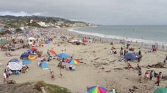 People on the Beach in Laguna, California, The United States of America, Time Stock Footage