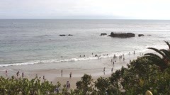 Beach View of Laguna Beach, California, The United States of America Stock Footage