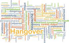 Hangover background concept - stock illustration