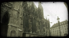 St. Stephen's Cathedral. Vintage stylized video clip. Stock Footage