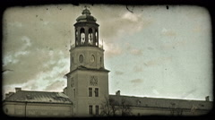 Top of Austrian church. Vintage stylized video clip. - stock footage