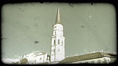 Vienna Building 6. Vintage stylized video clip. Stock Footage