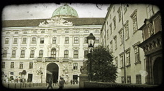 Vienna Flags. Vintage stylized video clip. Stock Footage