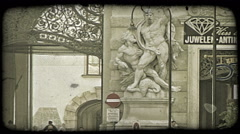 Vienna Buildings 22. Vintage stylized video clip. Stock Footage