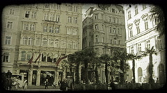 Vienna Statue 15. Vintage stylized video clip. Stock Footage