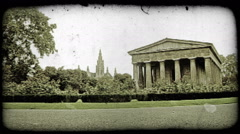 Vienna Garden. Vintage stylized video clip. Stock Footage