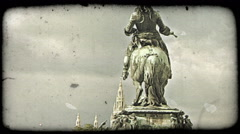 Vienna Statue 9. Vintage stylized video clip. Stock Footage