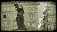 Vienna Statue 17. Vintage stylized video clip. Stock Footage