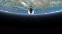 Space probe Voyager, science, technology, explorer, travel, spacecraft Arkistovideo