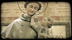 Cathedral Art 18. Vintage stylized video clip. - stock footage