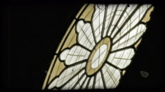 Cathedral Art 20. Vintage stylized video clip. - stock footage