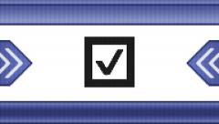 Checkbox on a pixel screen. Seamless. Arkistovideo