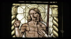Cathedral Art 24. Vintage stylized video clip. - stock footage