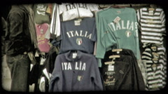 """Italia"" vendor. Vintage stylized video clip. Stock Footage"