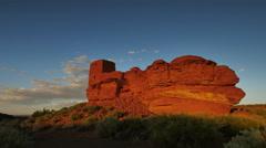 4K Wupatki Indian Ruins 02 Sunset Native American - stock footage
